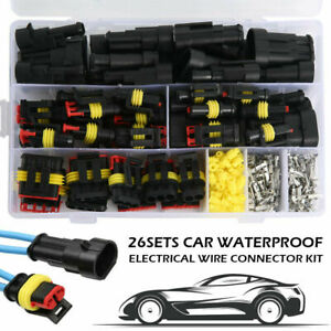 352pcs 26 Sets Car Wire Connector Plug 1 6 Pin Waterproof Electrical Plugs Kits