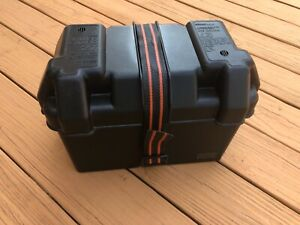 Attwood Power Guard 27 Vented Battery Box W Strap Camper Boat Trailer Case Marin