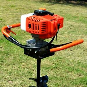 52cc Earth Auger Gas Powered Post Hole Digger Machine Power Engine Head 2 stroke