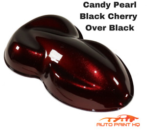 Candy Pearl Black Cherry Over Black Basecoat Quart Car Motorcycle Paint Kit