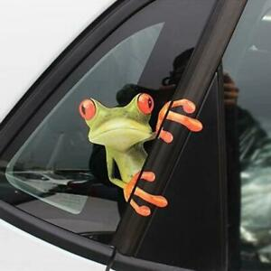 3d Funny Auto Green Frog Peep Truck Window Wall Decal Stickers Car Accessories Fits 2006 Mazda 3