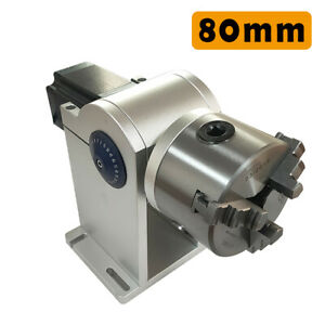 80mm Rotating Shaft Rotary Axis Tool Rotary Chuck For Laser Marking Machine