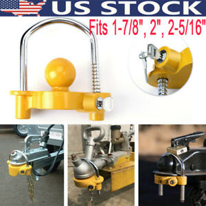 Heavy Duty Hook Universal Trailer Hitch Coupler Lock Out Ball 1 7 8 2 2 5 16