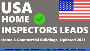 Email List Usa Usa Home Inspectors Certified Home Inspectors Leads B2b Leads