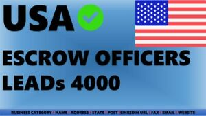 Email List Usa Usa Escrow Officers Certified Escrow Officers Leads B2b Leads