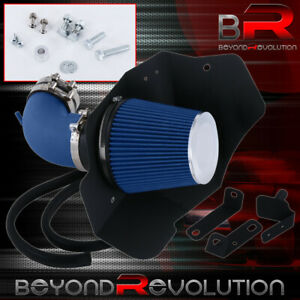 Blue Cold Air Intake Aluminum Pipe With Heat Shield Kit For 09 15 Cts V V8 6 2l