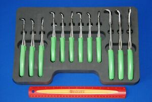 Snap On Tools 12 Piece Green Cushion Grip Retaining Ring Pliers Set Srpcr112g