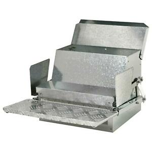 Automatic Chicken Feeder Galvanized Steel Poultry Feeders 25 Lbs Of Feeds
