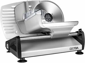 150w Deli Food Meat Slicer Electric With Removable 7 5 Stainless Steel Blade
