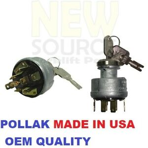 Ignition Switch Fit 379902 Hyster 2i6444 Cat 504240838 Yale Pollak Made In Usa