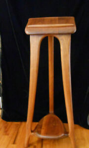 Signed Sculptural Carved Wood Lectern Music Stand Robby Big Sur California 1983