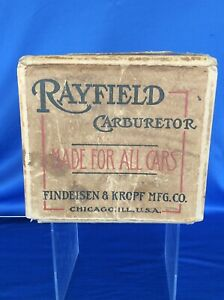 Rare Antique Rayfield Carburetor Box Only Has Rr Delivery Stamp From 1918