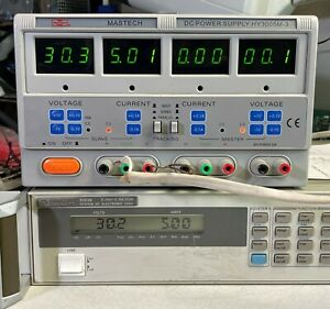 Mastech Hy3005m 3 Triple Output 30v 5a Variable Dc Power Supply W Tracking