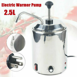 Cheese Warmer Stainless Steel Cheese Dispenser With Pump Temperature Adjustable