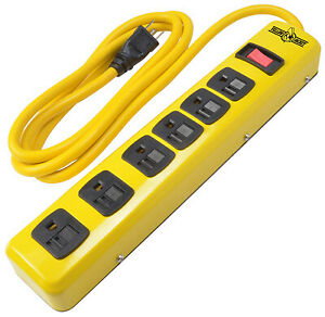Metal Power Strip 6 outlet 5139