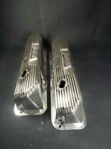 Ultra Rare Pent Roof Weiand Ford Fe Valve Covers 390 427 Show Time Just Polished