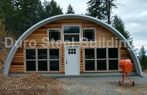 Durospan Steel 50 x46 x17 Metal Quonset Diy Home Building Kits Open Ends Direct
