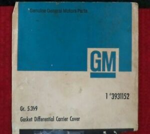 Gm 12 Bolt Rear Differential Cover Gasket 3931152 Nova Camaro Chevelle Muscle