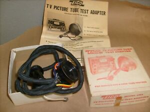 Vintage Eico Model Cra Tv Picture Tube Test Adapter W Instruction Manual 625