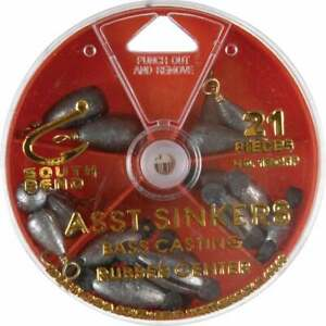 SouthBend 21 Piece Sinker Kit Assortment 130FP Pack of 12 $49.80