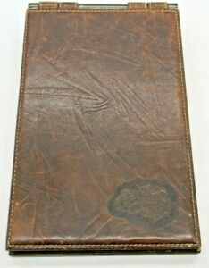 Leather Notebook Notepad Cover Carlos Falchi Refillable Crocodile Snakes