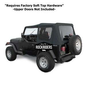 1988 1995 Jeep Wrangler Soft Top With Tinted Windows W O Door Skins