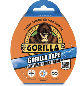 Gorilla Extreme All Weather Tape Black Wet Surfaces 100 Waterproof 48mm X 11m