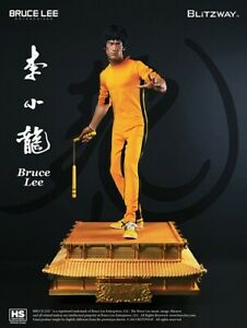 Blitzway 1 3 GOLD BASE Bruce Lee 40th Anniversary Game of Death Statue Only 100 $3500.00