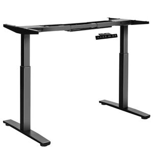 Costway Electric Stand Up Desk Frame Dual Motor Height Adjustable Stand Black
