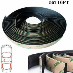 5m 16ft Rubber Seal Weather Strips Edge Trim Car Front Rear Windshield Sunroof