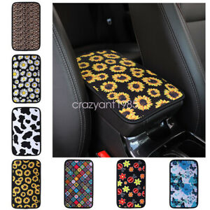 Stylish Car Center Console Protector Pad Flower Printing Armrest Box Cover Decor