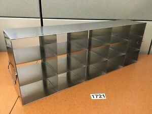 Vwr Stainless Steel Upright Freezer Rack For 3 Boxes 15 Box Capacity