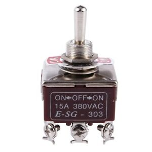 3pdt On off on 3 Postion 9 Screw Terminals Toggle Switch Ac 250v 15a L1j6
