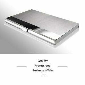 1 Pcs Pocket Stainless Steel Business Card Holder Id Credit Card Wallet 3 8x2 5