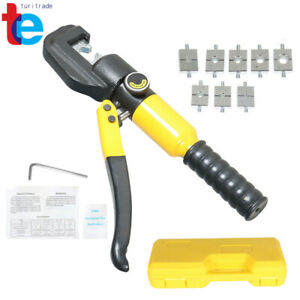 5 Ton Hydraulic Wire Terminal Crimper Battery Cable Lug Crimping Tool Kits