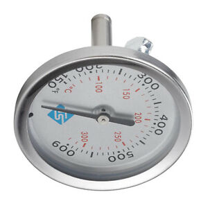 Cooker Barbecue Oven Thermometer Bbq Grill Smoker Temps Gauge Dual Gage