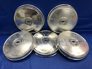 Vintage Set Of 5 1976 80 Chevrolet 9 1 2 Dog Dish Hubcaps Chevette Maybe Others
