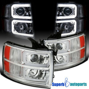 For 2007 2013 Chevy Silverado 1500 07 14 2500hd Projector Headlights Led Tube