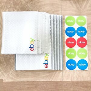 Lot Of Ebay Branded Padded Envelopes Poly Bubble Mailers Logo Stickers Starter