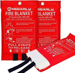 3 Pack Emergency Fire Blankets For Home Survival Fire Equipment Size 39 3 Inch