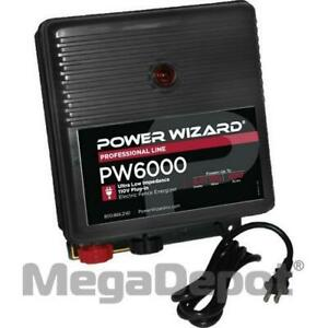 Power Wizard Pw6000 110v Plug in Electric Fence Charger