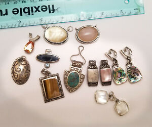 Vintage Lot Sterling Silver 925 Vintage Mixed Jewelry Scrap Repair Or Use