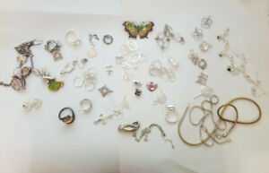 Lot Sterling Silver 925 Vintage Mixed Jewelry Scrap 5oz Or 141 7gr
