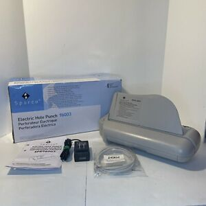 Sparco Electric Upright 2 Or 3 Hole Paper Punch 96003 Automatic Complete