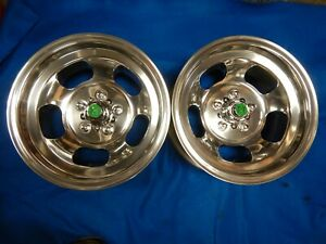 Polished 15x7 Ansen Slot Mag Wheels Ford Dodge Mags Mopar R T Mustang Torino Gt