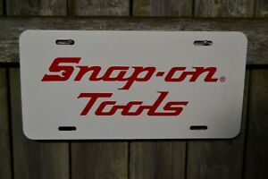 Vintage Snap On Tools White License Plate