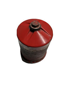 Ford Tractor Jubilee Red Engine Oil Filter Canister W Mount Plate Nut Working