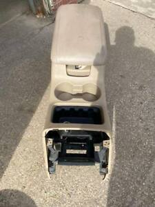 2003 2006 Ford Expedition Front Center Floor Console Arm Rest Cup Holder Tan Oem