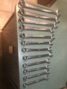 Snap On Large Metric Oexm Wrench Set 12 Wrenches Mm Owners Marks