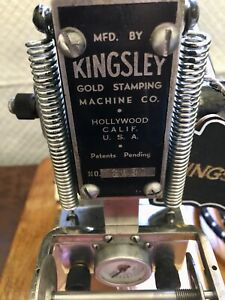 Kingsley Hot Gold Foil Stamping Machine With 4 Rolls Of Foil And Metal Bar